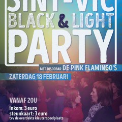 Black & light party voor de ouders