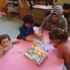 Kerst-spel met de grote kinderen.